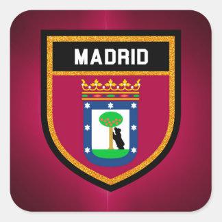 Madrid Flag Square Sticker