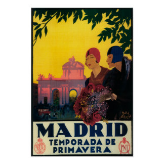 Madrid in Springtime Travel Promotional Poster