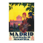 Madrid in Springtime Travel Promotional Poster Canvas Prints