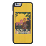 Madrid in Springtime Travel Promotional Poster Carved® Maple iPhone 6 Slim Case