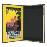 Madrid in Springtime Travel Promotional Poster iPad Air Case