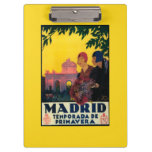 Madrid in Springtime Travel Promotional Poster Clipboard