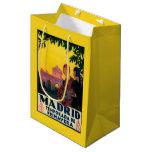 Madrid in Springtime Travel Promotional Poster Medium Gift Bag