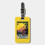 Madrid in Springtime Travel Promotional Poster Travel Bag Tag
