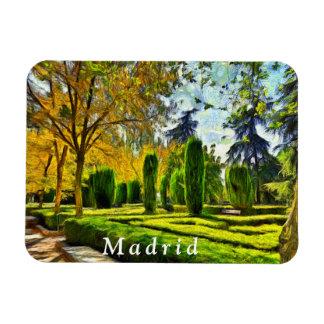 Madrid. Landscape. Retiro Park. Magnet