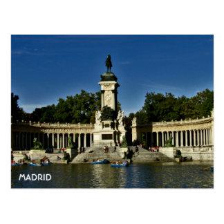Madrid - Parque  El Retiro Postcard