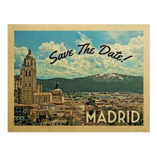 Madrid Save The Date Spain Postcard