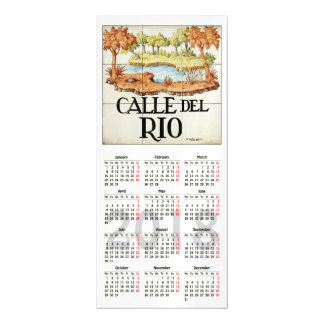 Madrid signs, Spain 2018 calendar Magnetic Card