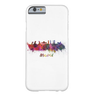 Madrid skyline in watercolor barely there iPhone 6 case
