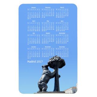 Madrid, Spain 2017 calendar Magnet