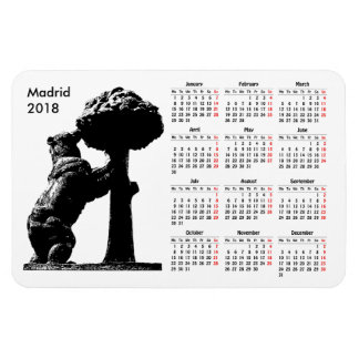 Madrid, Spain 2018 calendar Magnet