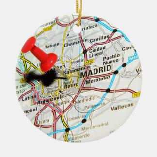 Madrid, Spain Ceramic Ornament