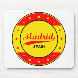 Madrid, Spain, circle, red Mouse Pad