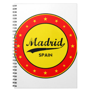 Madrid, Spain, circle, red Notebook