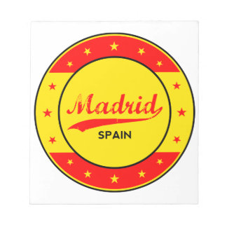 Madrid, Spain, circle, red Notepad