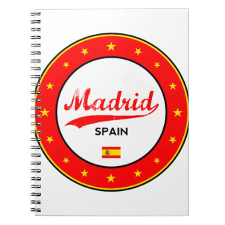 Madrid, Spain, circle, white Notebook