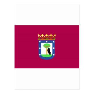 Madrid Spain (City) Flag Postcard