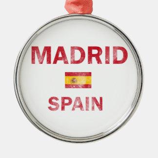 Madrid Spain Designs Metal Ornament