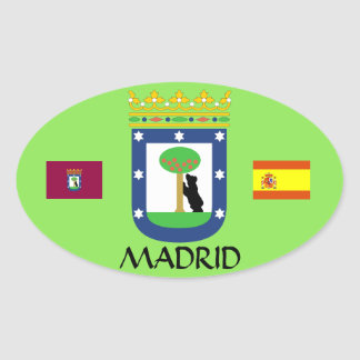 Madrid Spain Euro-Oval Crest Sticker