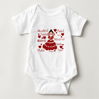 Madrid Spain flamenco wrist Baby Bodysuit