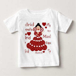 Madrid Spain flamenco wrist Baby T-Shirt