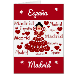 Madrid Spain flamenco wrist Card