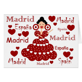 Madrid Spain flamenco wrist Card
