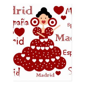 Madrid Spain flamenco wrist Postcard