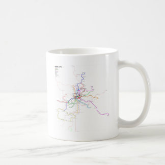 Madrid (Spain) Metro Map Coffee Mug