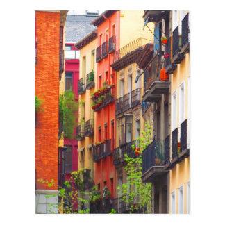 Madrid, Spain Neighborhood Postcard