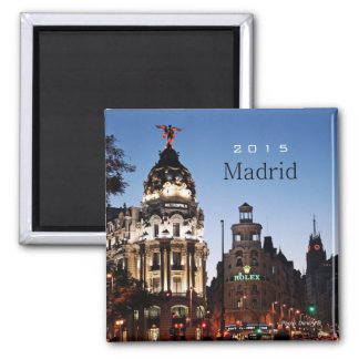 Madrid Spain Nighttime Scene Magnet Change Year