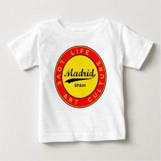 Madrid, Spain, red circle, art Baby T-Shirt
