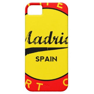 Madrid, Spain, red circle, art Barely There iPhone 5 Case