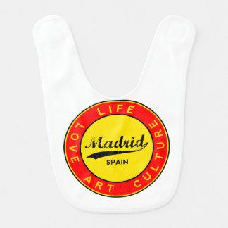 Madrid, Spain, red circle, art Bib