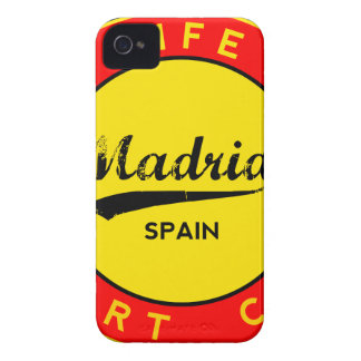 Madrid, Spain, red circle, art iPhone 4 Cases