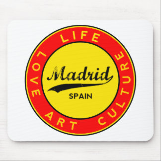 Madrid, Spain, red circle, art Mouse Pad