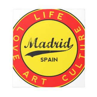 Madrid, Spain, red circle, art Notepad