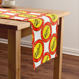 Madrid, Spain, red circle, art Short Table Runner