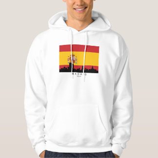 Madrid Spain Skyline Spanish Flag Hoodie