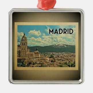 Madrid Spain Vintage Travel Ornament