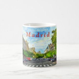 Madrid street. coffee mug