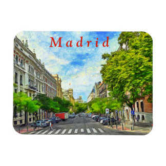 Madrid street. magnet