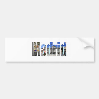Madrid tourist attractions bumper stickers