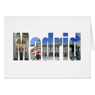 Madrid tourist attractions greeting card