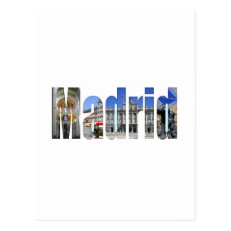 Madrid tourist attractions postcard