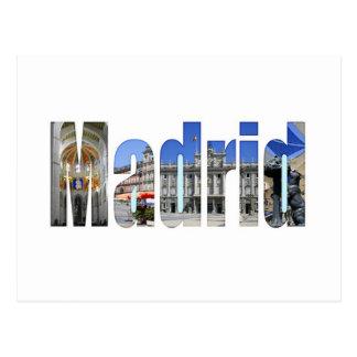 Madrid tourist attractions postcard