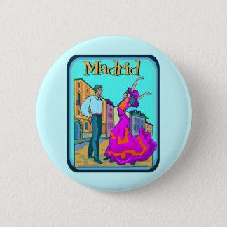 Madrid Travel Poster 6 Cm Round Badge