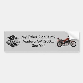 Madura GV1200 Gray Bumper Sticker