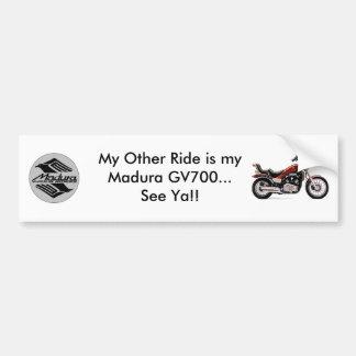 Madura GV 700 White Bumper Sticker