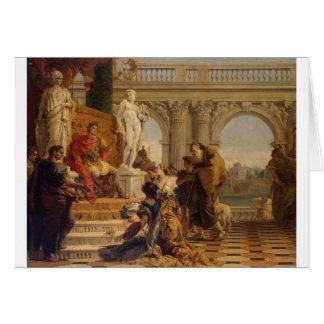 Maecenas Presenting the Liberal Arts to Emperor Card